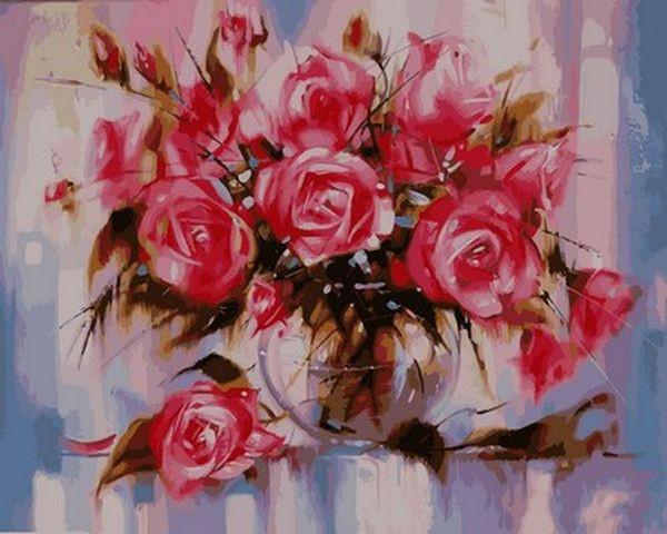 раскраски для взрослых 40 50 см нежные розы