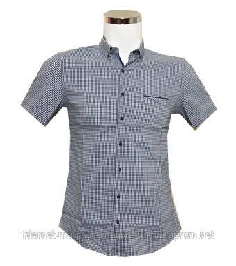 Рубашка мужская, приталенный крой Батал