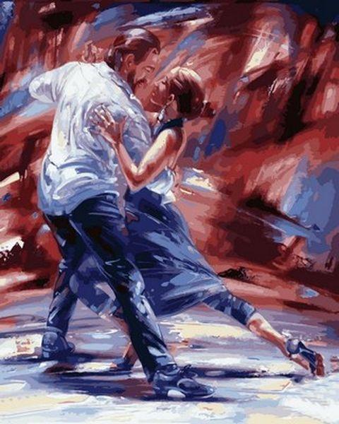 Раскраски по номерам 40×50 см. Страсть в стиле танго