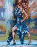 Картины по номерам 40×50 см. Страстное танго