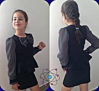 Школьное платье чёрное (мм-633)