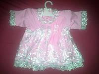 Розовое модное платье р.62.68