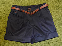 Школьные шорты с поясом, фото 1