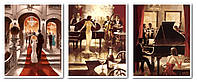 Раскраски по номерам 50х120 см. Триптих Богема