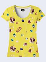 Прекрасная футболка Женские украшения с оригинальным рисунком XS