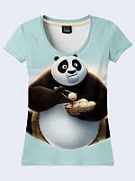Очаровательная мультяшная футболка Kung Fu Panda Po с модным рисунком XS