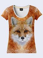 Классная женская футболка Fox с красочным фотопринтом XS