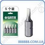 "Биты 1/4"" шлицевые 6,5 мм длина 25 мм 5 шт/уп. 59218 Sata"
