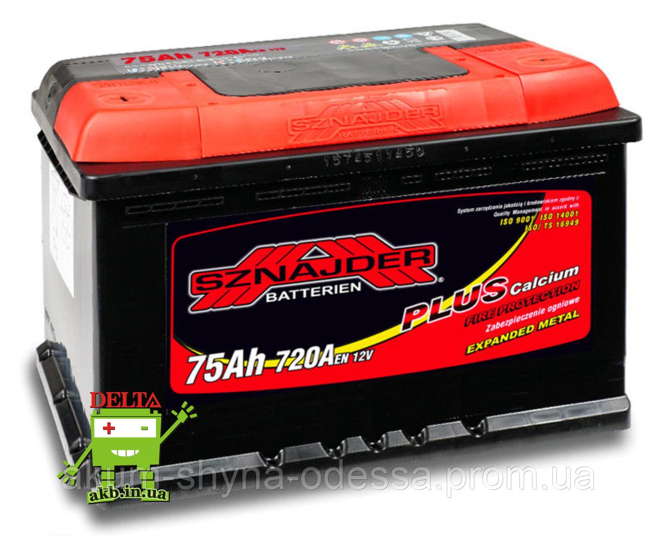 АКБ SZNAJDER Plus 6СТ- 75Ah 720A L