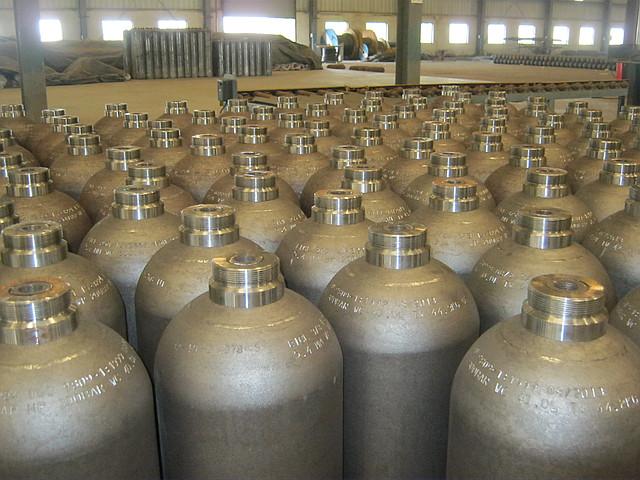 Новый баллон кислородный 40 литров. Pn 200 Бар. Баллон кислород новый 40 л. ГОСТ 949-73 новый, фото 1