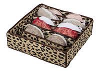 Коробочка для белья на 7 секций леопард