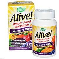 """Комплекс витаминов и минералов для женщин """"Максимальная Энергия"""", 90 таблеток, Nature's Way"""