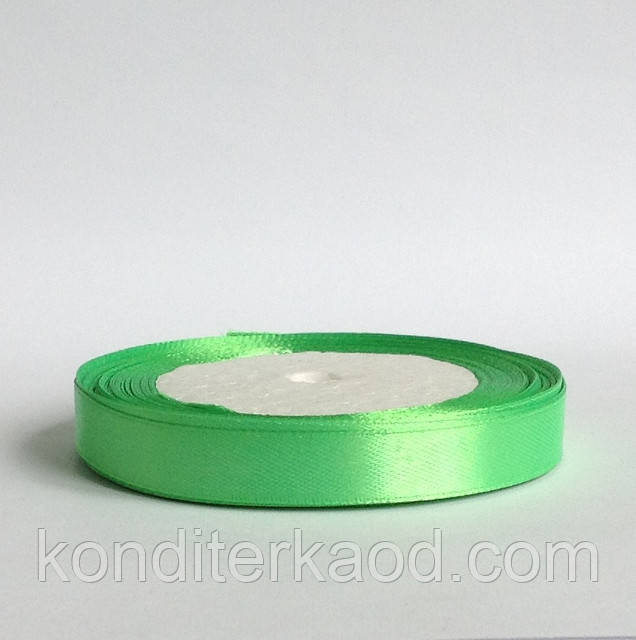 Лента атласная 1,2 см  нежно зеленый