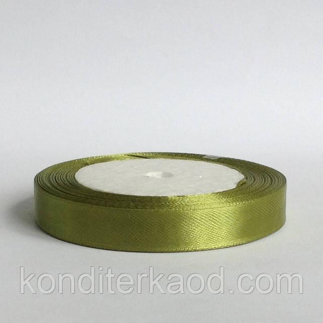 Лента атласная 1,2 см  оливковый