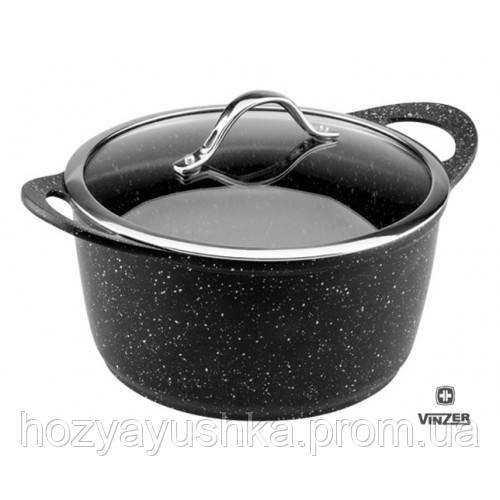 Кастрюля с крышкой 24 см – 5.0 л. посуда Vinzer 89452 - Интернет магазин посуды posyda.org в Винницкой области