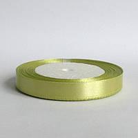 Лента атласная 1,2 см  светло оливковый, фото 1