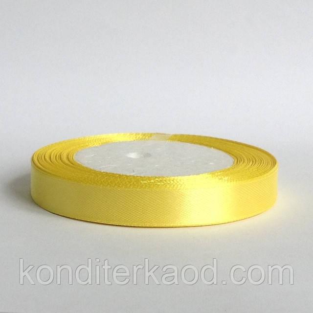 Лента атласная 1,2 см  солнечный желтый