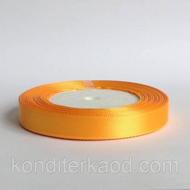 Лента атласная 1,2 см  теплый желтый