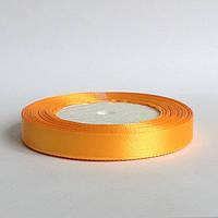 Лента атласная 1,2 см  теплый желтый, фото 1