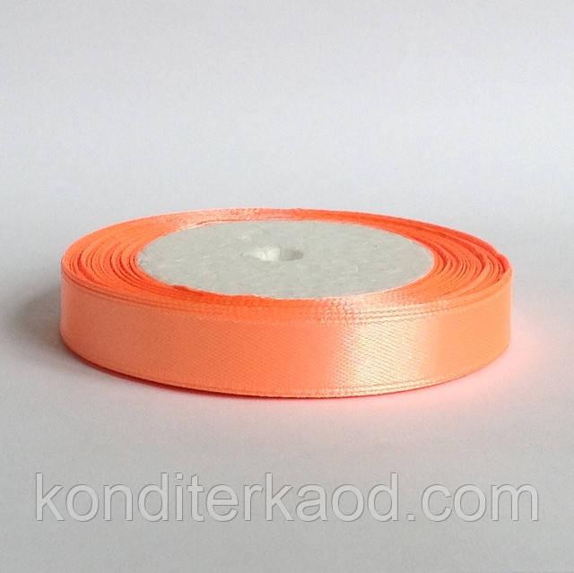 Лента атласная 1,2 см   персиковый