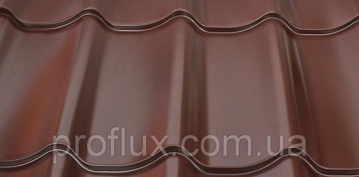 Металлочерепица монтерей 0,45 8017(коричневый)