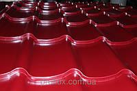 Металлочерепица монтерей 0,45 3005(красный)