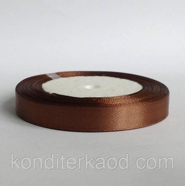 Лента атласная 1,2 см   коричневый