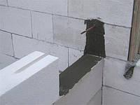 Сопряжение стен из газобетона