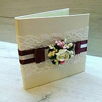 """Коробочка для свадебного диска с коллекции """"Марсала"""""""