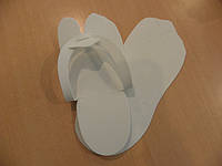 Тапочки EVA, белые, индивидуальная упаковка, 3 мм.
