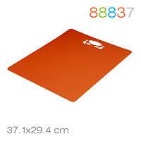 Разделочная доска Tagliere, оранжевая, гибкий антибактериальный пластик – 37,1 х 29,4 см Granchio 88837