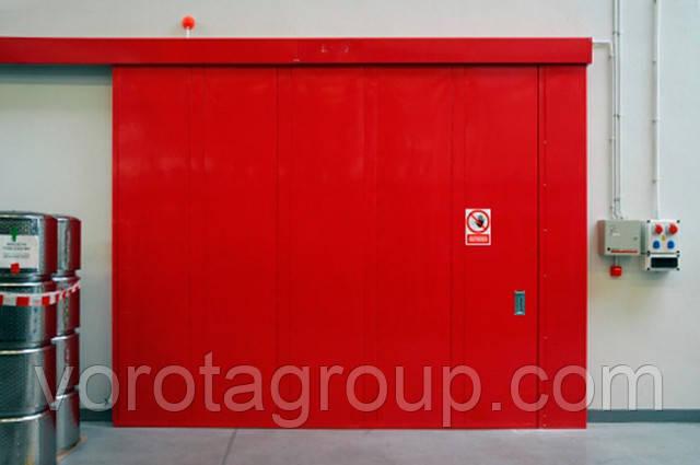 Откатные  ворота Hormann противопожарные FST T30 2,8м*2м