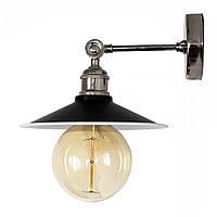 Настенно-потолочный светильник купол Loft Steampunk [ on Wall Ceiling Black & White \ nickel ]