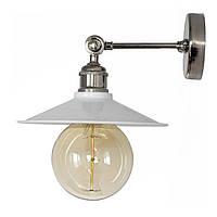 Настенно-потолочный светильник купол Loft Steampunk [ on Wall Ceiling White \ nickel ]