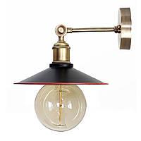 Настенно-потолочный светильник купол Loft Steampunk [ on Wall Ceiling Black & Red ]