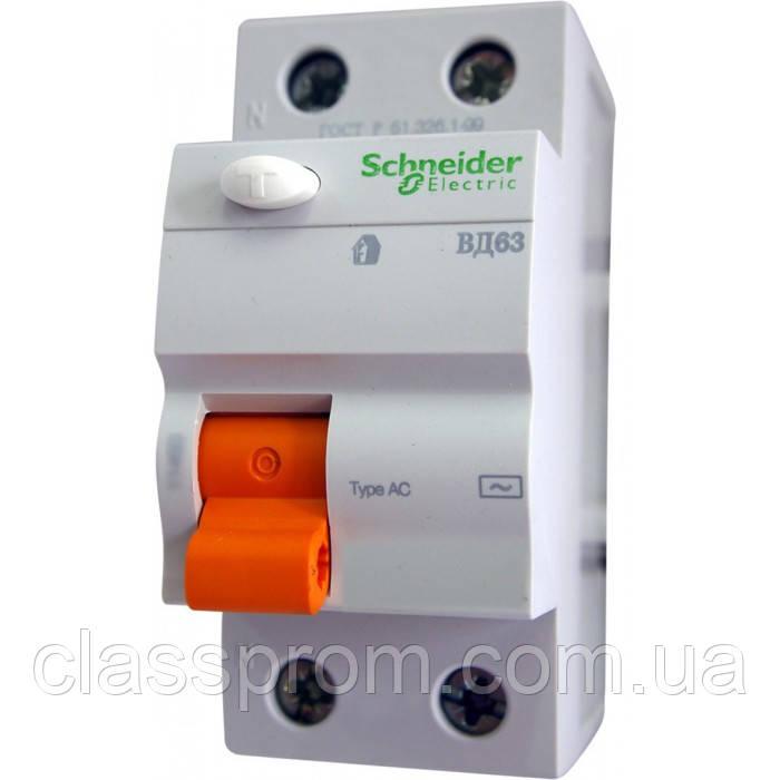 Дифференциальный выключатель (УЗО) 2П 63A 300МA