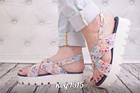 Женские кожаные босоножки, сандалии