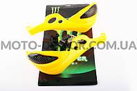 """Защита рук на руль   """"XJB""""   (mod:1, MONSTER ENERGY, желтые)"""