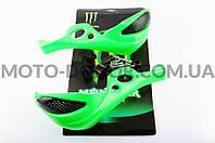 """Защита рук на руль   """"XJB""""   (mod:1, MONSTER ENERGY, зеленые)"""
