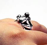 Кольцо мужское серебряное Секс,Камасутра КЦ-57 Б, фото 2