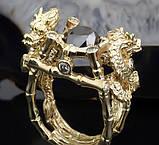 Перстень мужской серебряный Китайские Драконы КЦ-69 Б, фото 4