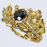 Перстень мужской серебряный Китайские Драконы КЦ-69 Б, фото 6