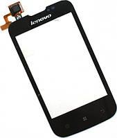 Сенсор (тач скрин) LENOVO A60+ black (оригинал)