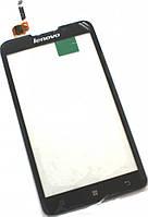 Сенсор (тач скрин) LENOVO A590 black (оригинал)
