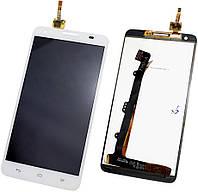 Дисплей (экран) + сенсор (тач скрин) HUAWEI G750 Honor 3x white (оригинал)