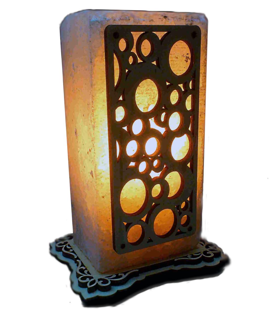 Соляной светильник с нашивкой Круги