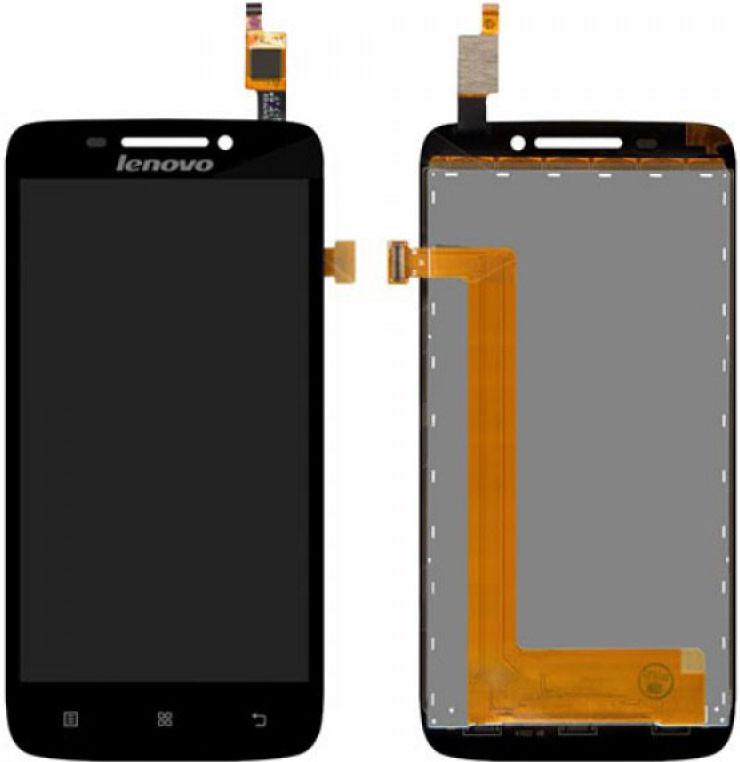 Модуль LENOVO S650 titan black (оригинал) дисплей экран, сенсор тач ск