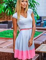 Серо-розовое платье | Melanie sk