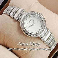 Bvlgari slim crystal Silver/White