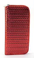 Красный горизонтальный женский кошелек-клатч на молнии Б/Н art. 01